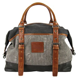 LICENCE 71195 Jumper II Canvas Overnight Bag, Grey