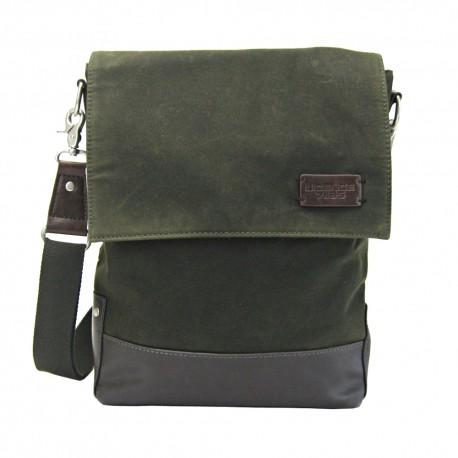 LICENCE 71195 College WaxC Shoulder Bag, Khaki