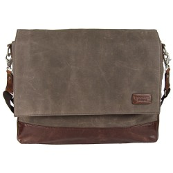 LICENCE 71195 College WaxC Messenger Bag, Brown