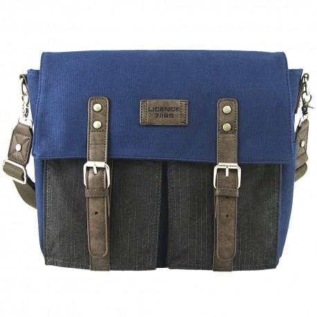 LICENCE 71195 College PiqueC Messenger Bag, Navy