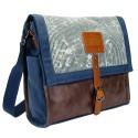 LICENCE 71195  Jumper Canvas Messenger Bag, Navy