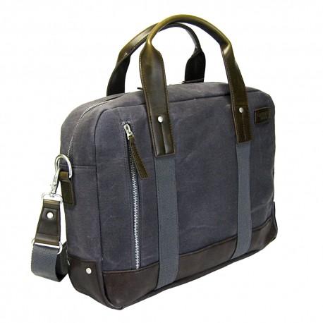 LICENCE 71195 College WaxC Briefcase, Grey