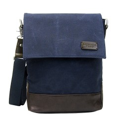 LICENCE 71195 College WaxC Shoulder Bag, Navy