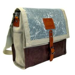 LICENCE 71195  Jumper Canvas Messenger Bag, Beige