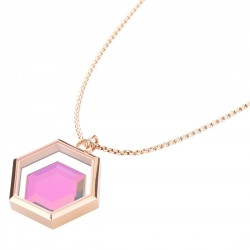MIMOZA-X Necklace - Rose Gold by STORM