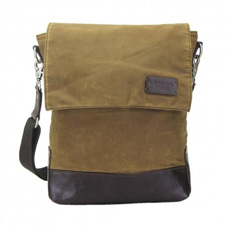 LICENCE 71195 College WaxC Shoulder Bag, Camel