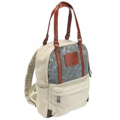 LICENCE 71195 Jumper Canvas Backpack/Carrying Bag, Beige