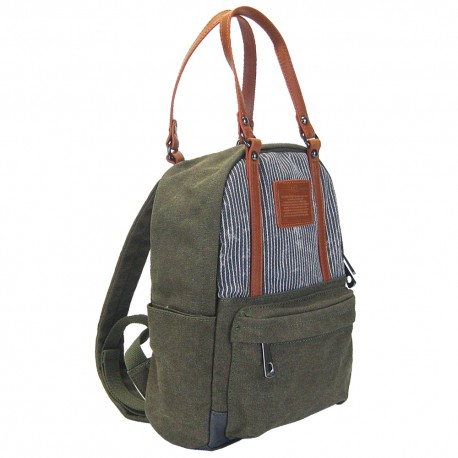 LICENCE 71195 Jumper Canvas Backpack/Carrying Bag, Khaki