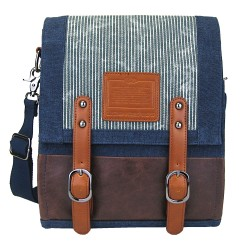 LICENCE 71195 Jumper Canvas Vertical Messenger Bag, Navy