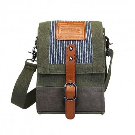 LICENCE 71195 Jumper Canvas Shoulder Bag, Khaki