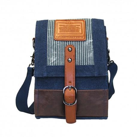 LICENCE 71195 Jumper Canvas Shoulder Bag, Navy