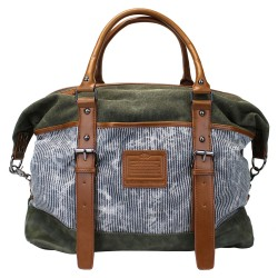 LICENCE 71195 Jumper Canvas Overnight Bag, Khaki
