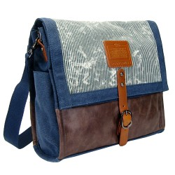 LICENCE 71195  Jumper Canvas Messenger Bag, Navy