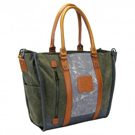 LICENCE 71195 Jumper II Canvas W Tote Bag, Khaki