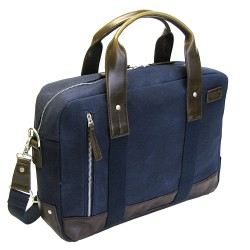 LICENCE 71195 College WaxC Briefcase, Navy