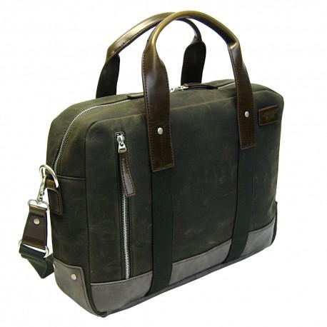 LICENCE 71195 College WaxC Briefcase, Khaki