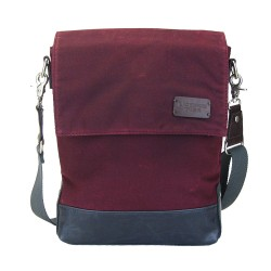 LICENCE 71195 College WaxC Shoulder Bag, Burgundy