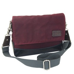 LICENCE 71195 College WaxC W Shoulder Bag, Burgundy